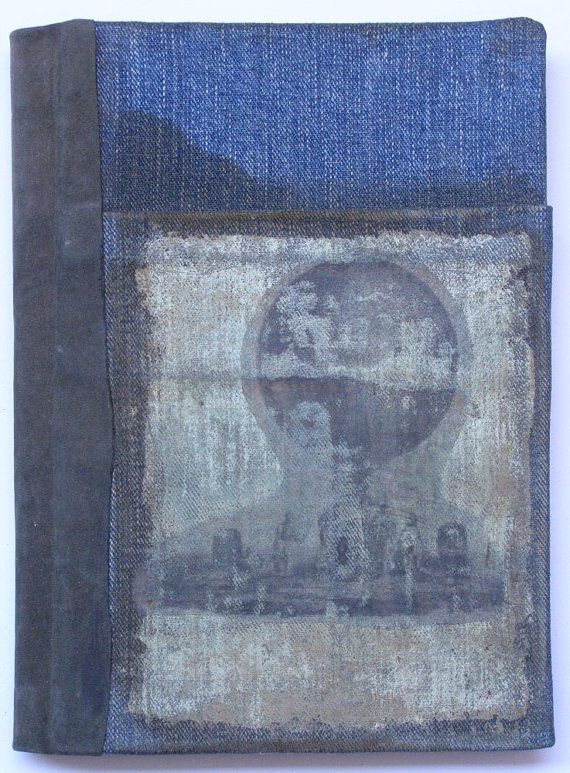Denim Journal With Pocket by 100art on Etsy, $17.00