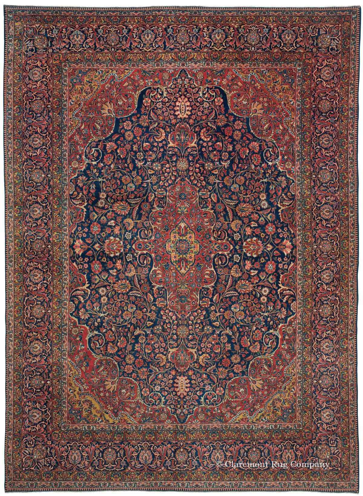 Kashan Central Persian 8ft 10in X 12ft 0in Circa 1920 Persian Carpet Antique Persian Carpet Rugs On Carpet