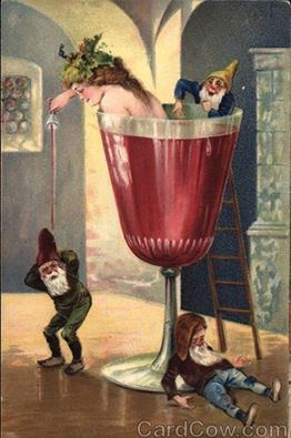a festive card from the 19th century i am certain that there are many who would like to attend this particular party