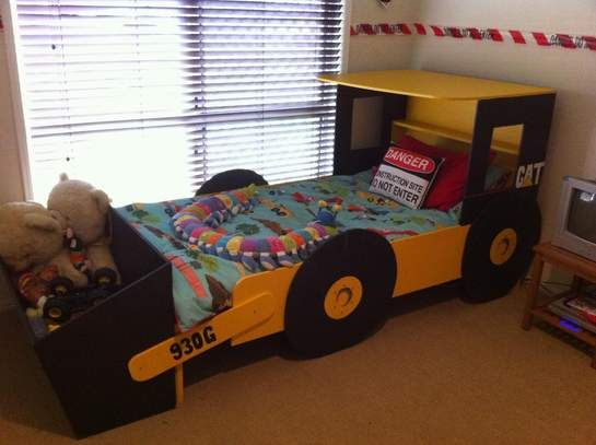 Boys construction room on pinterest construction theme rooms boys tractor room and john deere - Toddler beds for boys ...