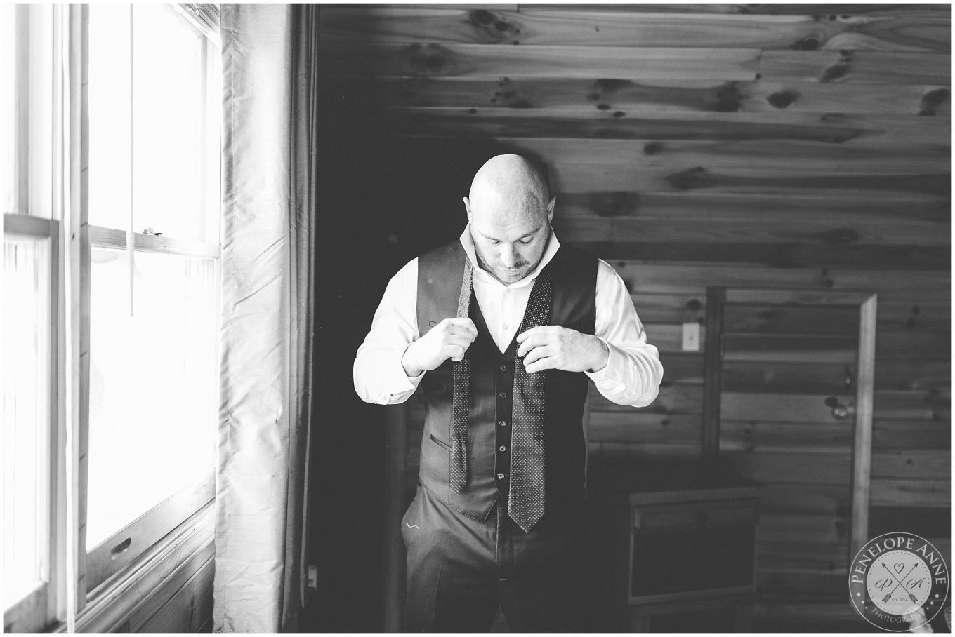 Groom Getting Ready  Rustic Wedding Photographer in Log Cabin in North Carolina. North Carolina Wedding Photographer. Orlando Wedding Photographer