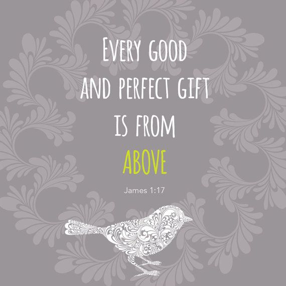 Every good gift James 117 by DropsofHoneyDesign on Etsy