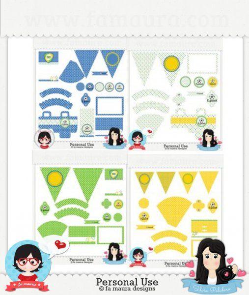 Self service Party Kit Brazil by Fa Maura & Silvia Polidoro