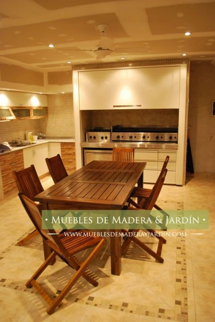 Mesa extensible para quincho muebles de jardin en 2019 for Muebles de madera y jardin