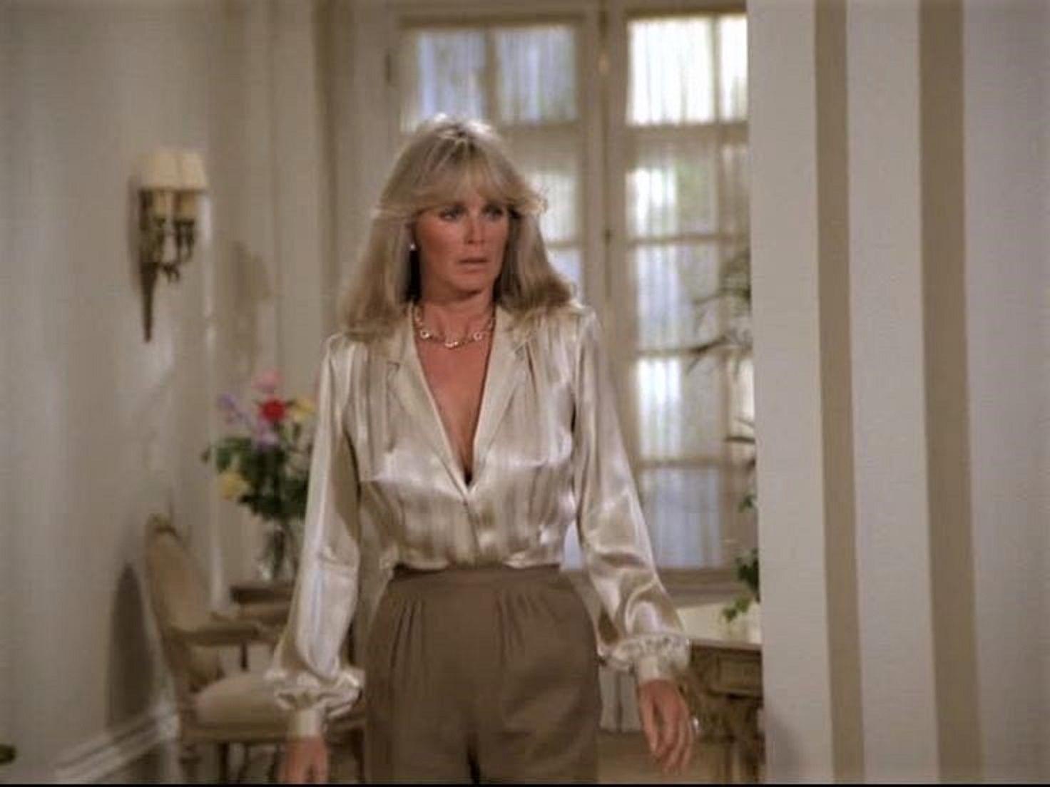 Rosie Perez - white blouse - Satin Lite House
