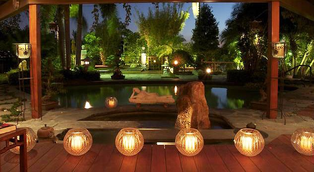 Lighting is another important element of outdoor design, and adding it in rows creates a desirable architectural element ...