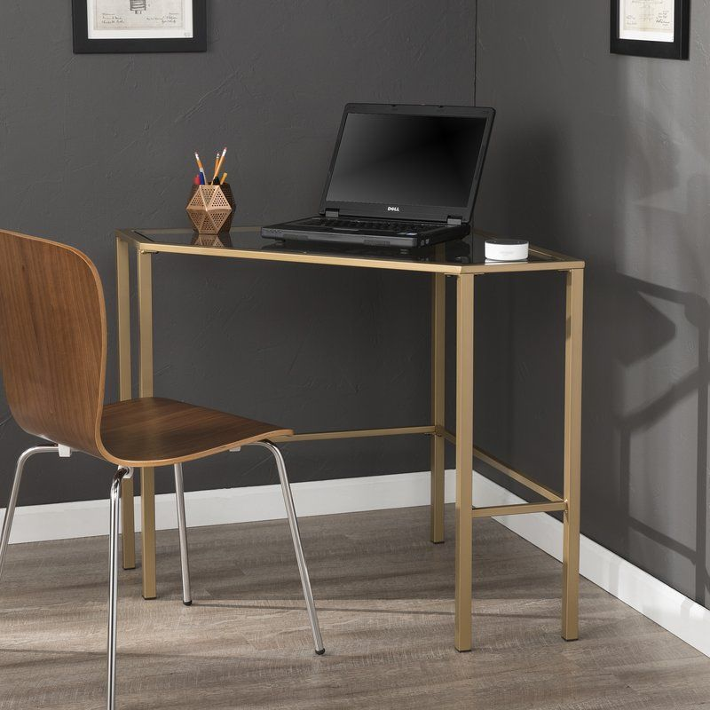Coopers Glass Corner Writing Desk Reviews Allmodern Glass Corner Desk Glass Desk Corner Writing Desk