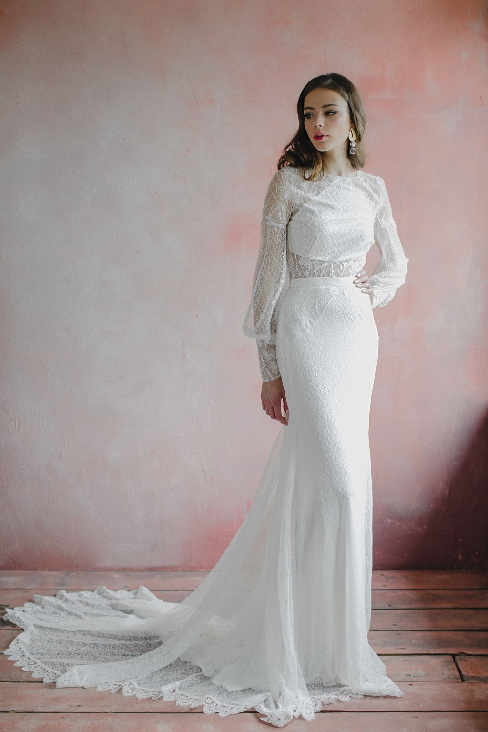 48++ Open back lace wedding dress with sleeves ideas