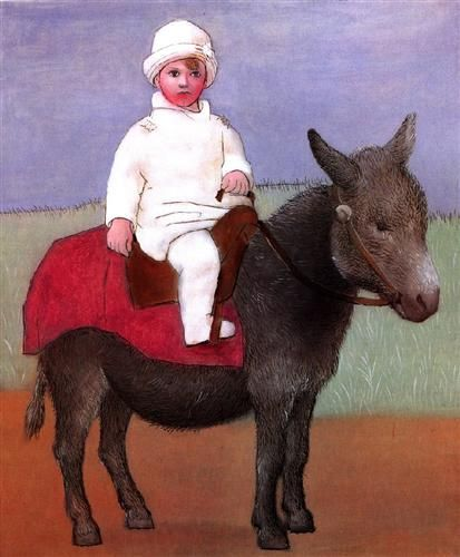 Paul, the artist's son, ten years old - Pablo Picasso