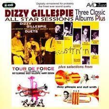 L'album All Star Sessions (3 Classic Albums Plus), All Star Sessions di Dizzy Gillespie, Genere: Jazz bebop Instrument, è uscito nel 2009 dalla casa discografica Avid Jazz. Titoli e performer 1° CD 76:50 Dizzy Gillespie With Sonny Rollins And Sonny Stitt...