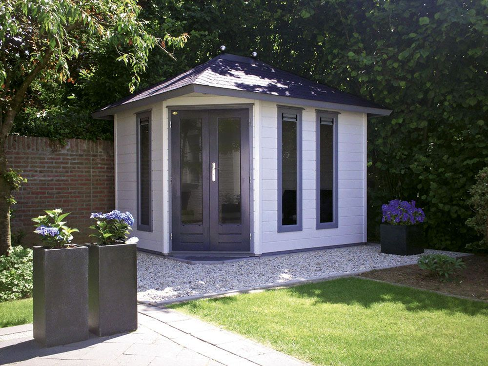 Modern garden corner shed google search new house for Modern garden shed designs