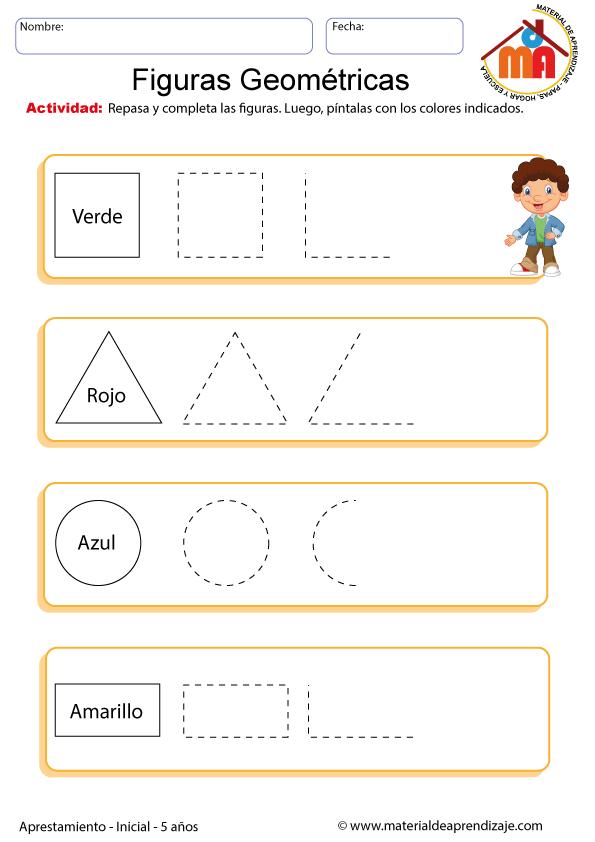 Figuras Geometricas Aprestamiento 5 Anos Con Imagenes Figuras