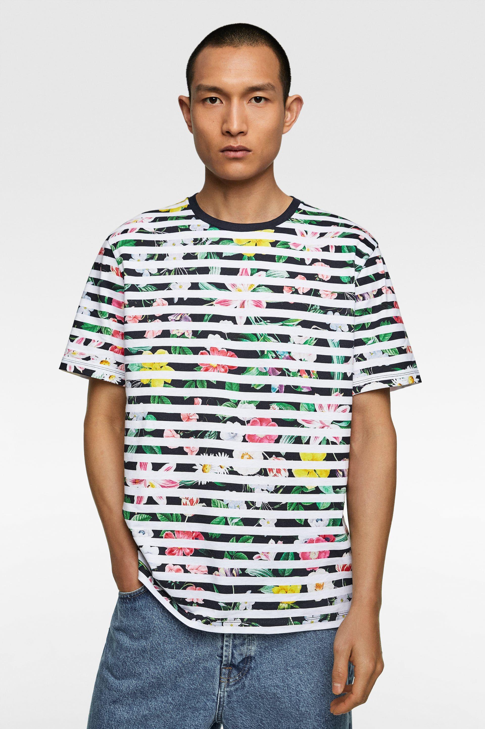 934c3e2a6b Striped floral print shirt | Marrakech Clothes | Floral print shirt ...