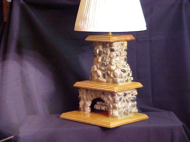 Stone Fireplace Lamp Home Ideas Table Lamp Home Decor Lighting