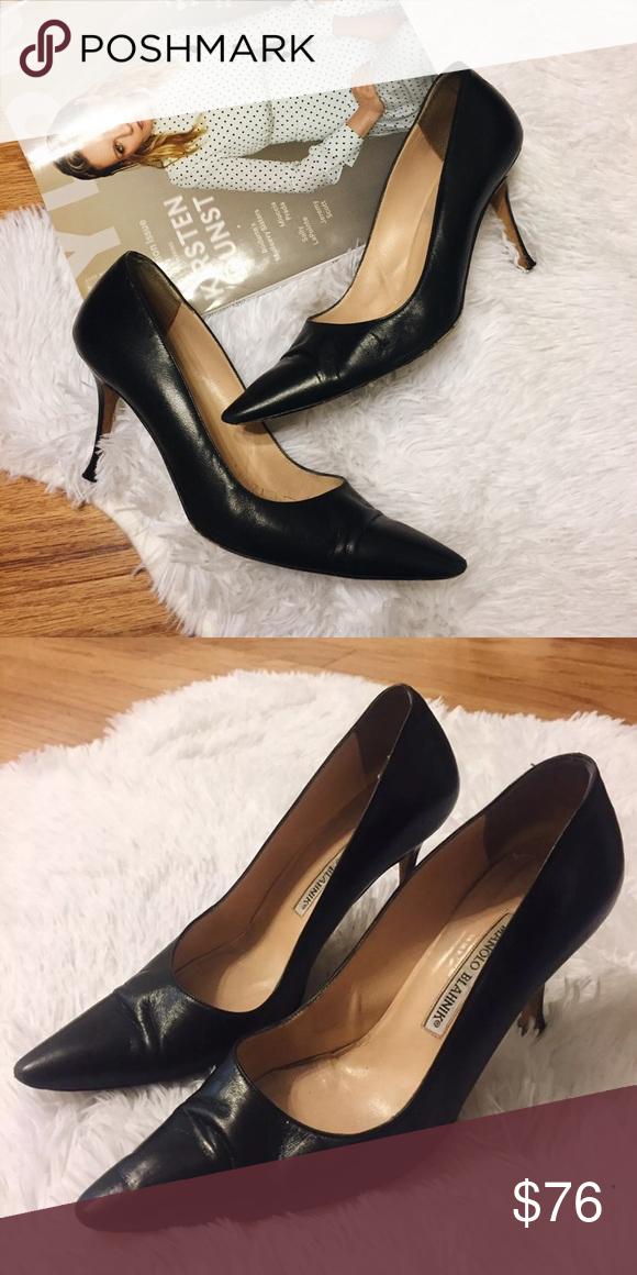 dbbef63f1cda9 Vintage Manila Blahnik Heels vintage classic manolo blahnik leather heels -  authentic designer heels. worn and kept in good condition. size 37 (7.5).  treat ...