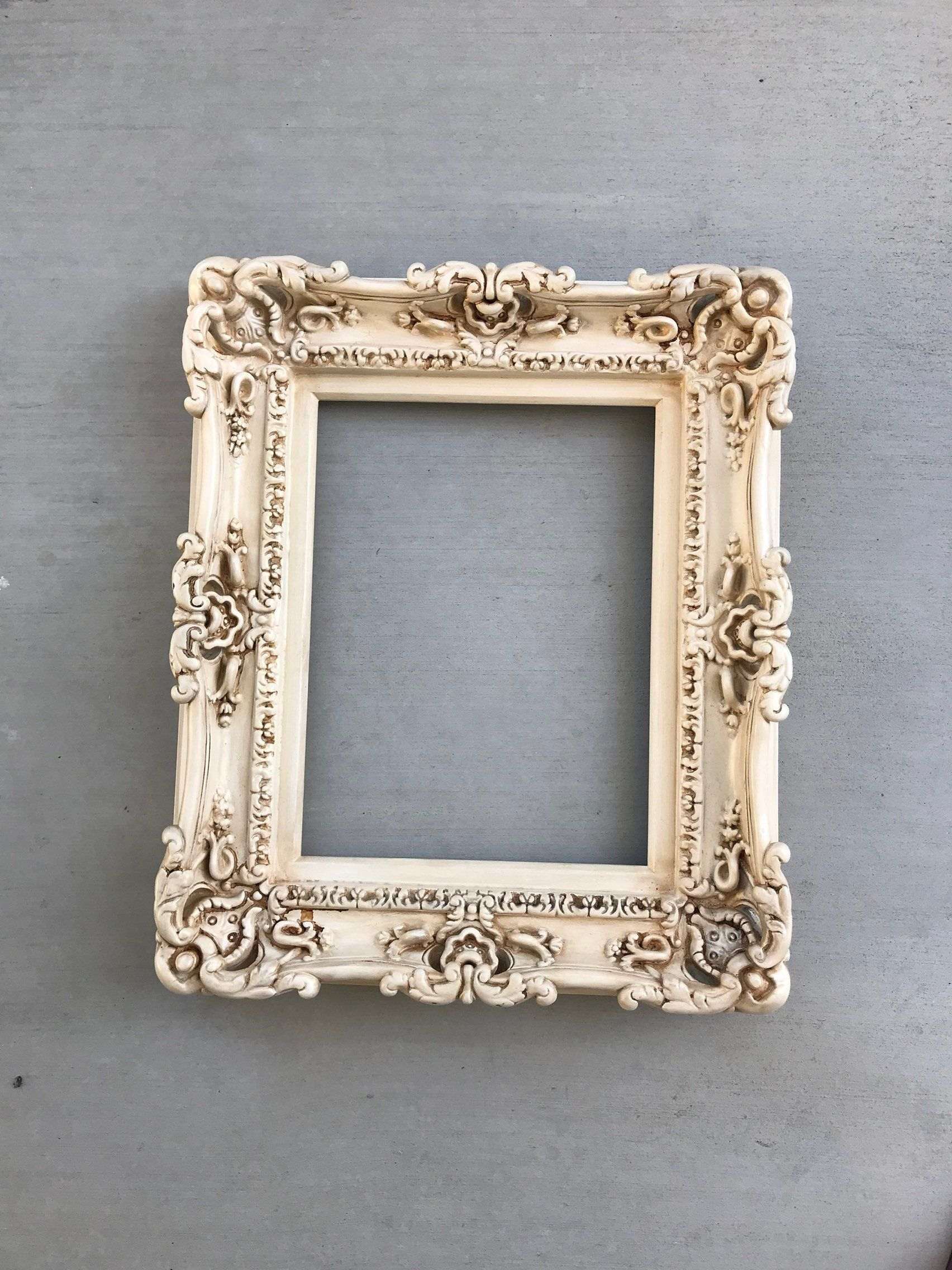 12x16 Vintage Shabby Chic Frame Decorative Baroque Frame Etsy Chic Frames Ornate Picture Frames Shabby Chic Picture Frames