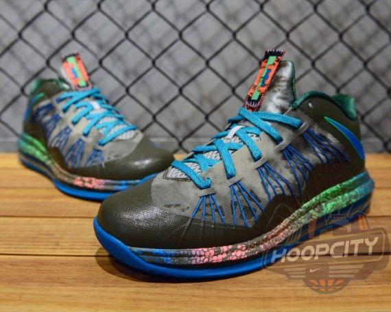 Nike LeBron X Low- Tarp Green, Neo Turquoise, and Poison Green