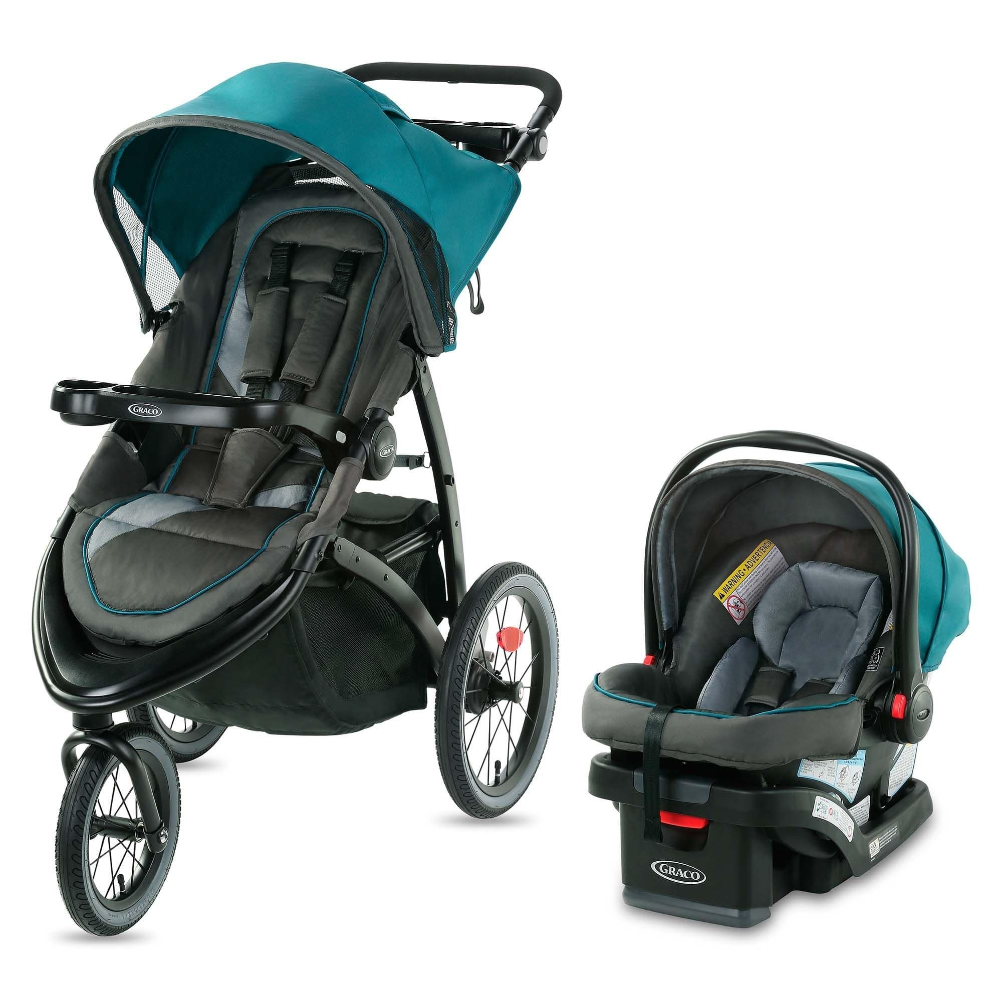 Graco FastAction Jogger LX Travel System, Seaton, Gray