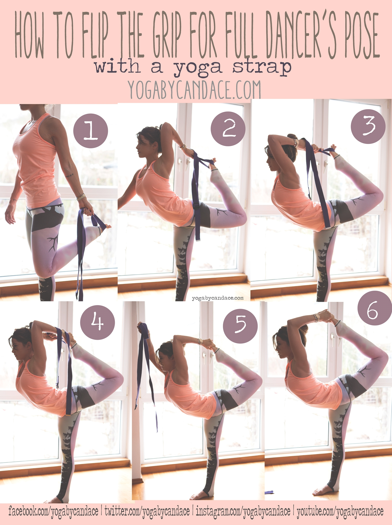Pin now, practice later! How to flip the grip for full dancer's pose #weightlosstips