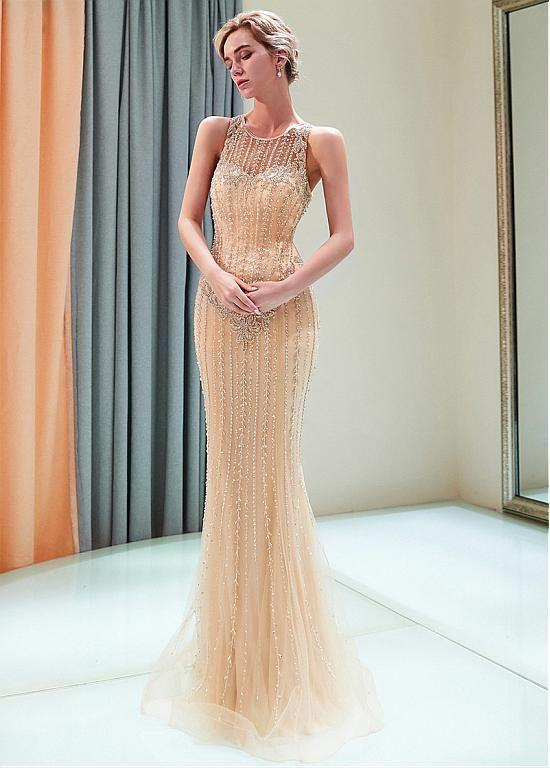 45beff08cd6d7 Buy discount Exquisite Tulle Jewel Neckline Full-length Mermaid ...