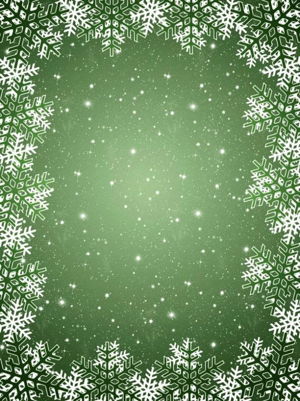 christmas backdrop snow flake green sky photography