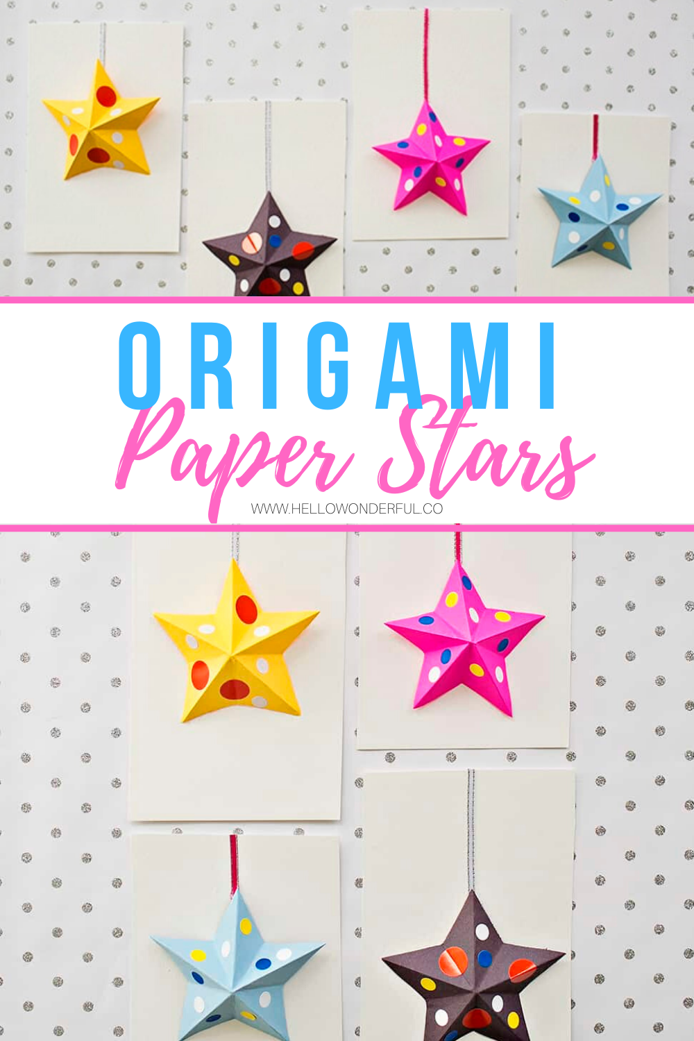 Photo of Origami Paper Star Cards