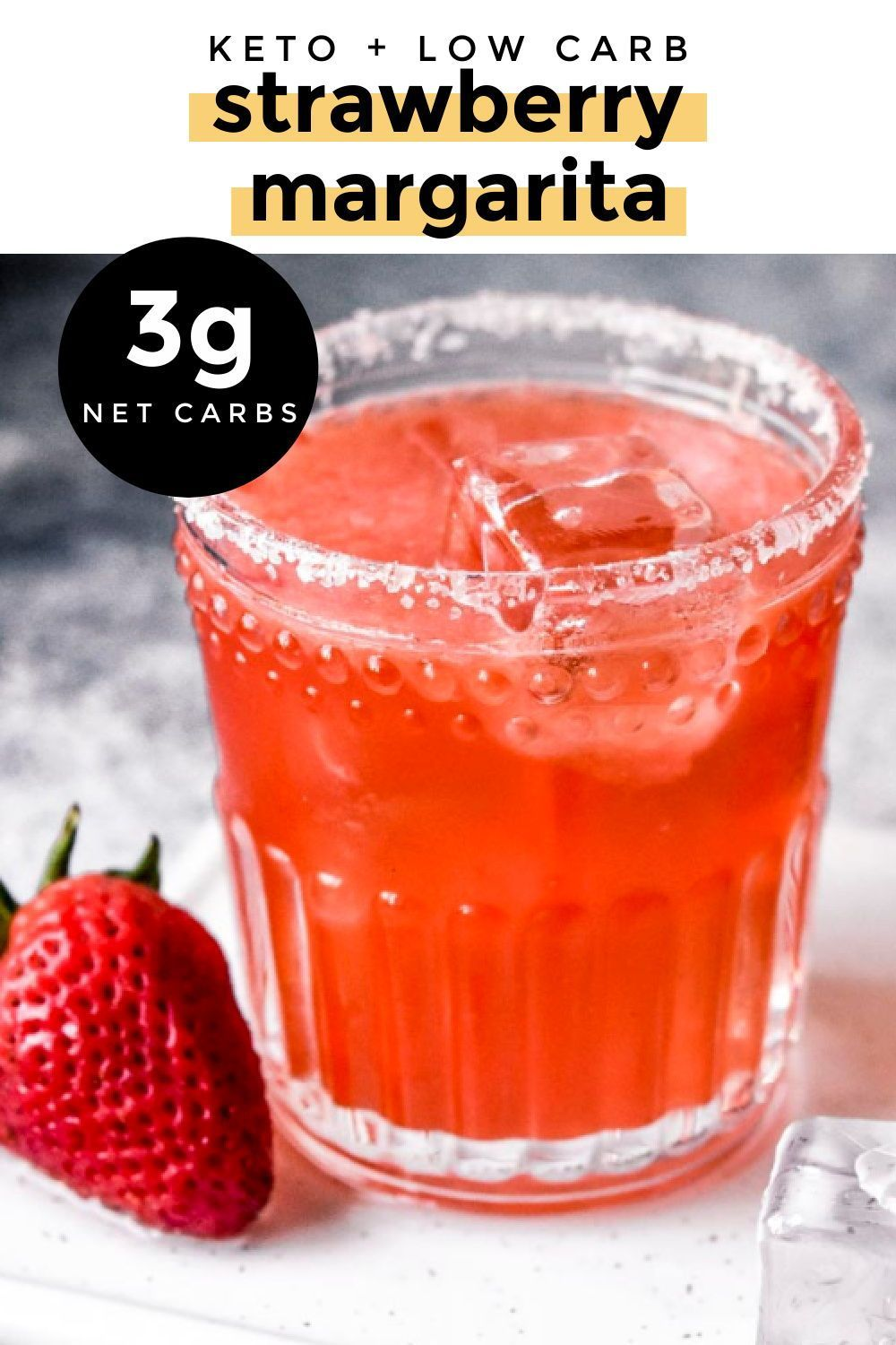 Low Carb Strawberry Margarita 3g Net Carbs Recipe In 2020 Delicious Snacks Recipes Low Carb Keto Recipes Low Carb Cocktails
