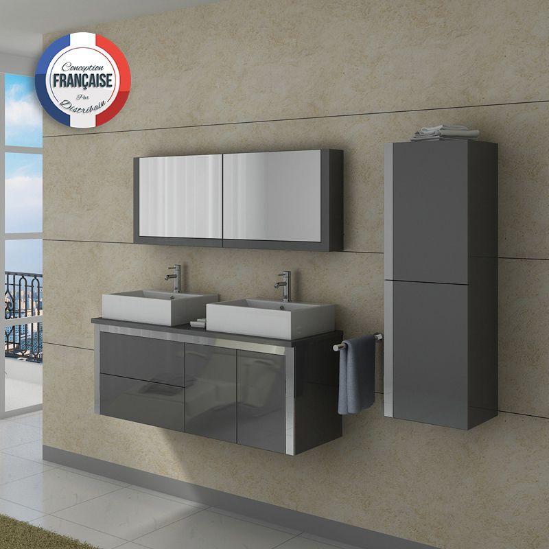 DIS026-1300GT Meuble salle de bain gris   Taupe