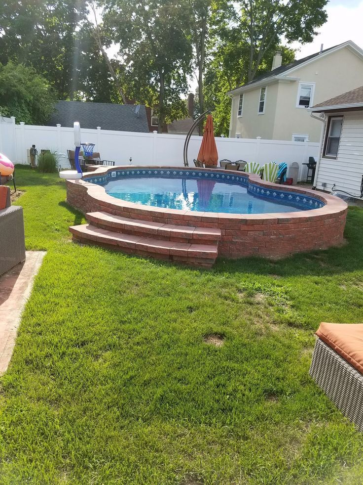 Above Ground Pool In 2020 Small Backyard Pools Swimming Pools