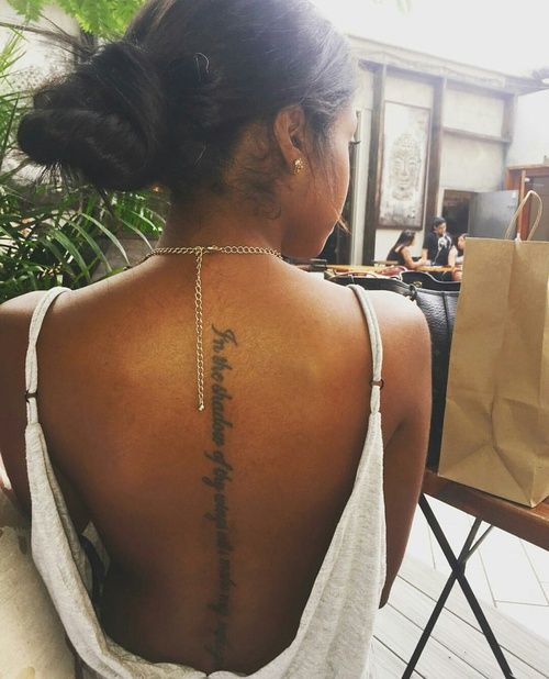 Image About Tattoos In Black Girl Magic By The Unoriginal Black Girls With Tattoos Spine Tattoos Tattoos
