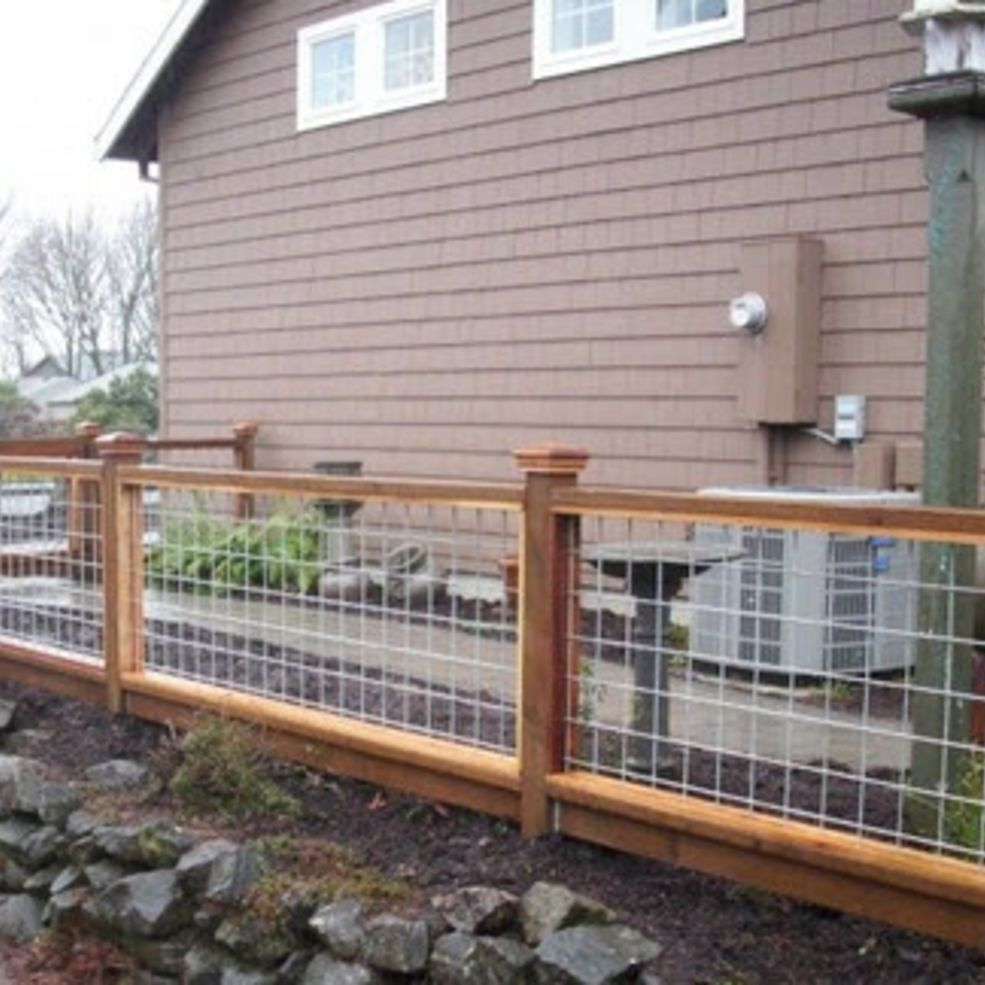 undefined | YARD - FENCING | Pinterest | Hog wire fence, Wire fence ...