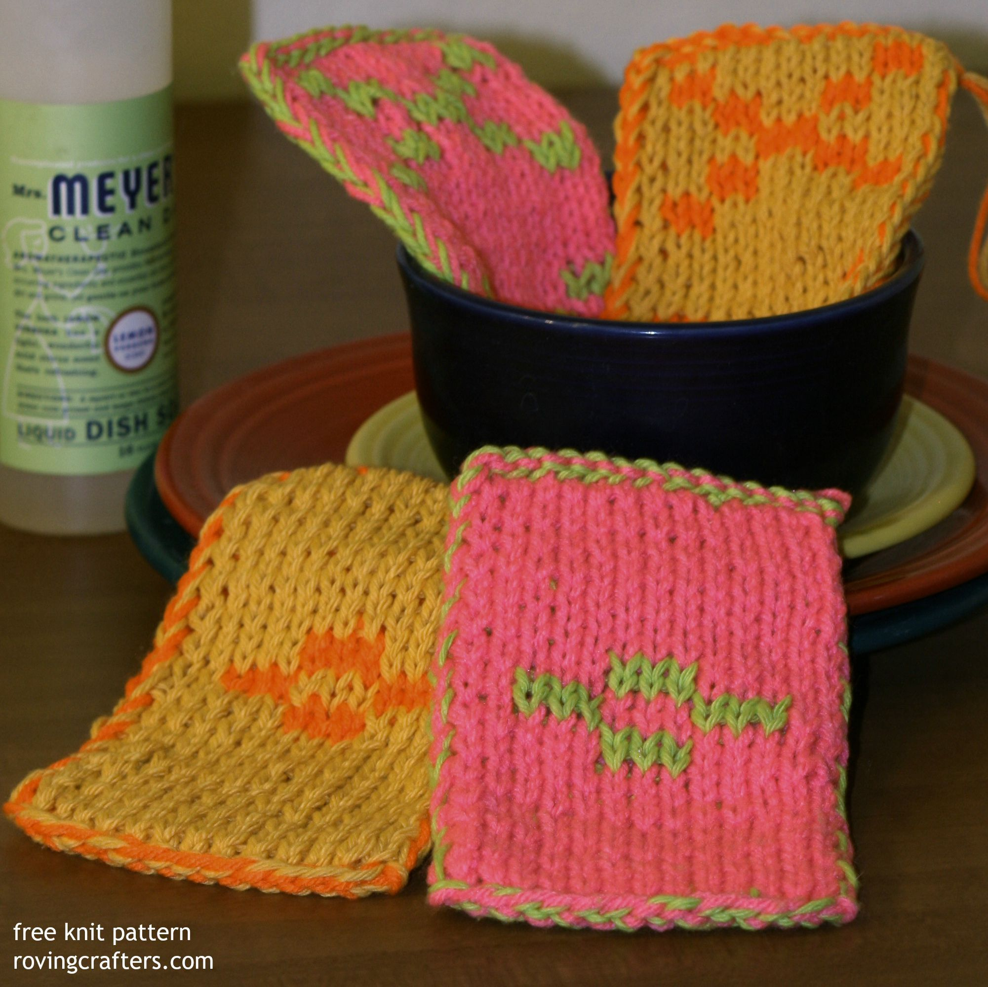 free knit pattern - Toil and Trouble - double sided knitting ...