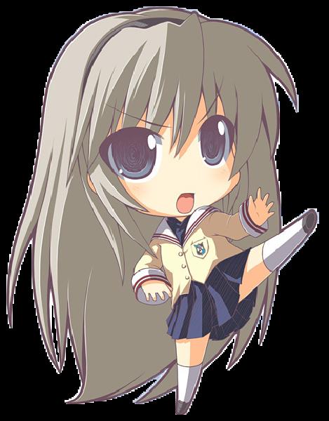 Clannad Chibi 10 Anime Clip Art Anime Chibi Clip Art