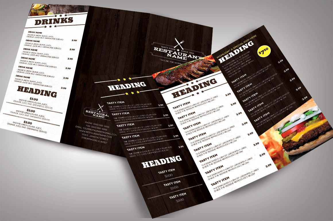 restaurant menu bundle by nathan knight design on creativemarket