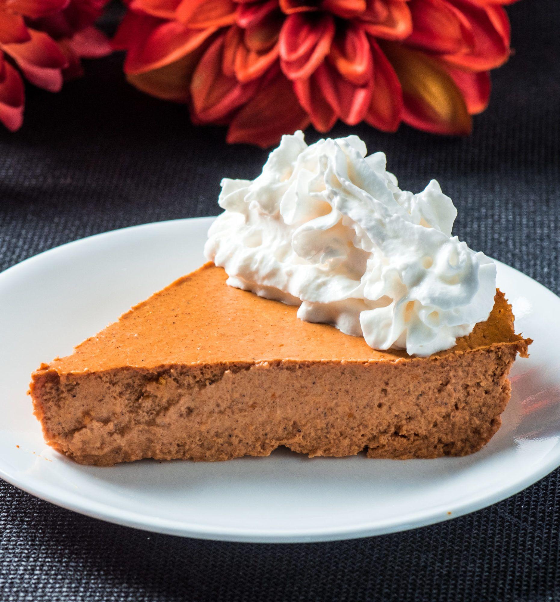 Crustless lowcarb pumpkin pie recipe low carb pumpkin
