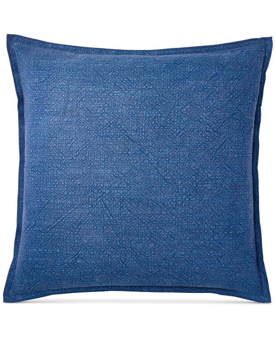Ralph Lauren Decorative Couch Pillows : Ralph Lauren Indigo Montauk Matelasse 18