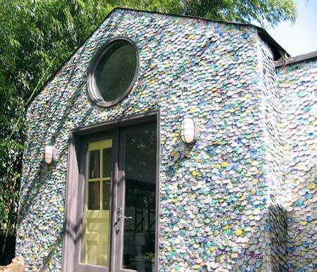 A Can Do House A New Twist To Aluminum Siding Aluminum Cans Tiny House Builders Aluminum Siding