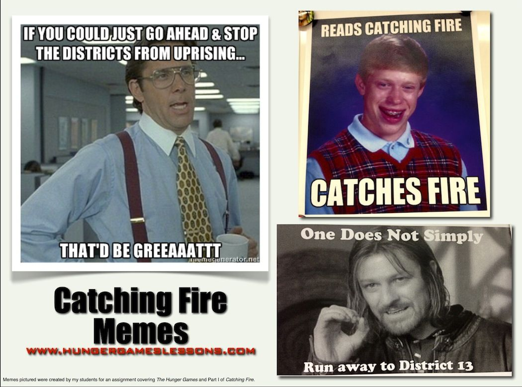 Catching fire memes created by students hungergameslessons catching fire memes created by students hungergameslessons hunger games trilogythe hunger gamesfunny voltagebd Gallery