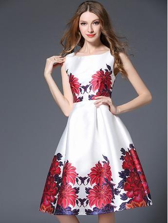 bc0f366e Spring Summer New Runway Designer Dress Women's Sleeveless Vest Crystal  Button Black Vintage Ice Cream Print Dress