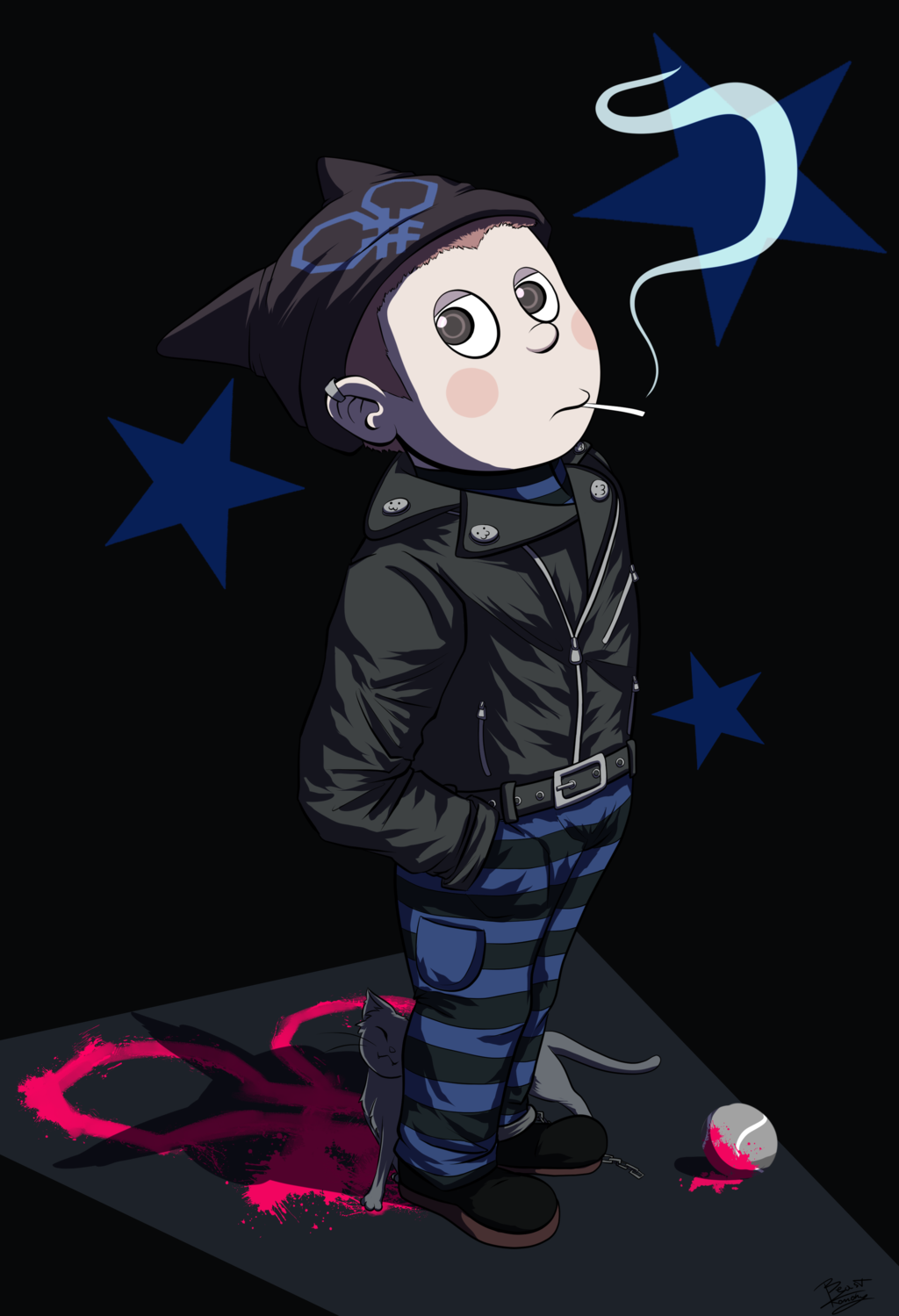 Ryoma Hoshi And The Cat By Beastkonoha Dbigo3x Png 1024 1499 Danganronpa Haikyuu Characters Anime Characters This is just something i wanted to make because i love danganronpa so much. pinterest