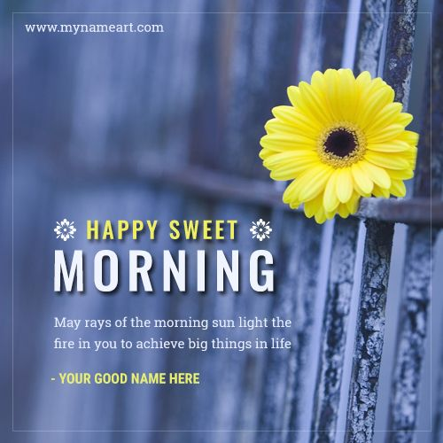 Enjoy Your Short Life With The Beautiful Message.good Morning Is The  Important Moments In