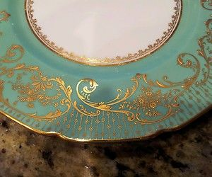 antique royal dalton china] | ANTIQUE-ROYAL-DOULTON-CHINA-SET- & Antique royal doulton china set 4 dinner plate raised gold ...