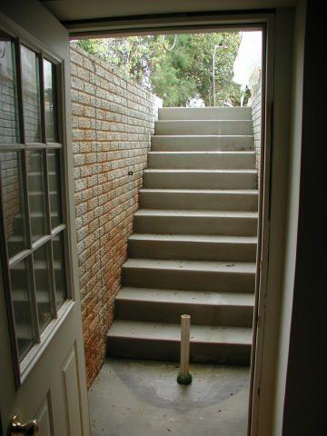 10 11 03 Basement Entrance Basement Stairs Basement Renovations | Outdoor Basement Stairwell Covers | Sloped | Step | Outside | Window Well | Basement Egress Door