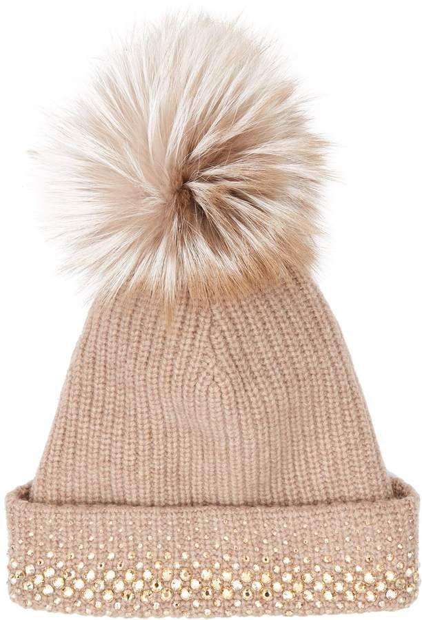 William Sharp Embellished Pom Pom Hat  2e1e54bb7df4