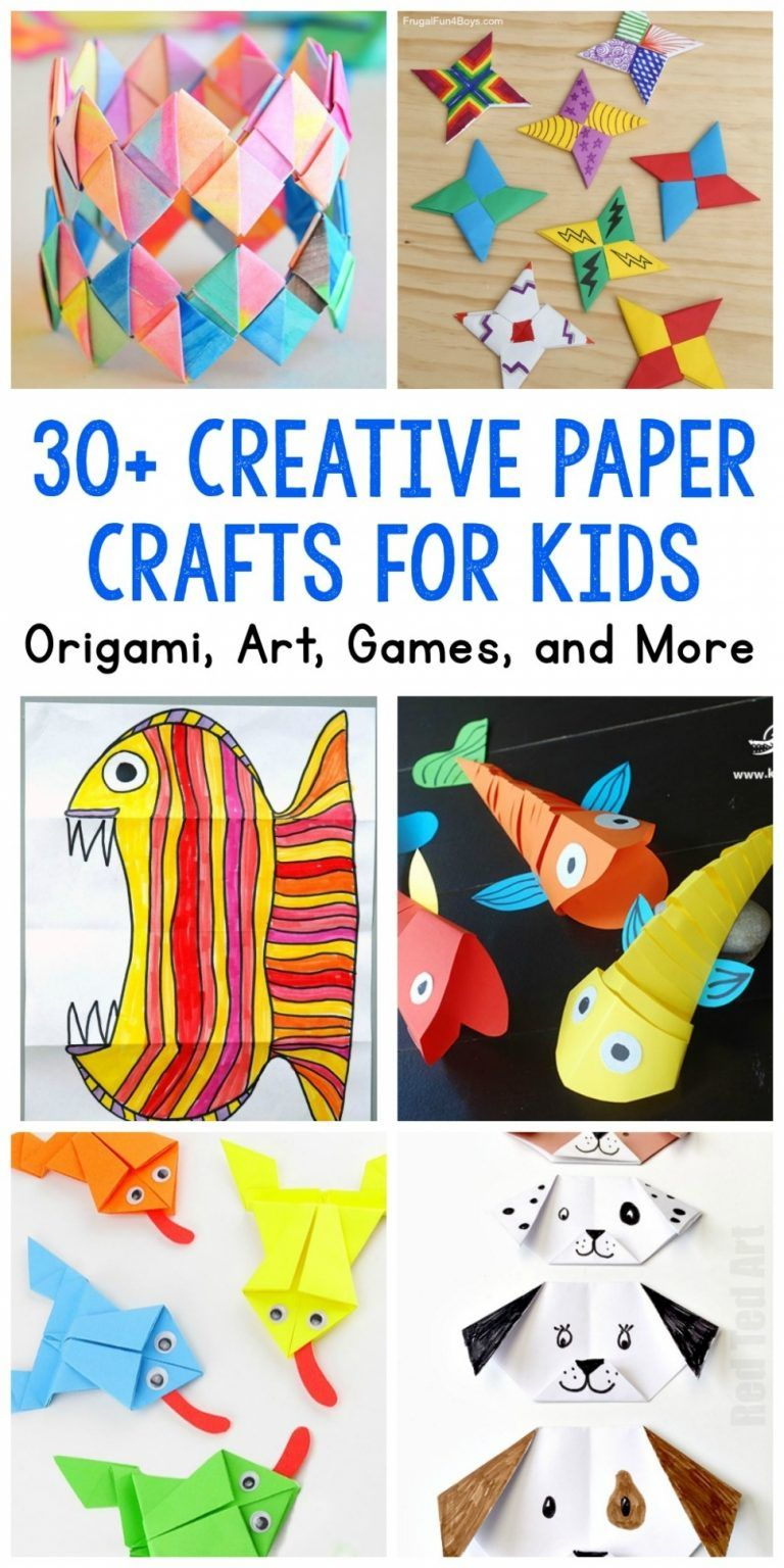 Paper Crafts For Kids 30 Fun Projects You Ll Want To Try