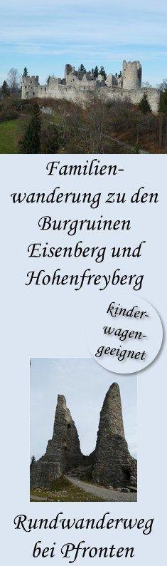 Rundwanderung zu den Burgruinen Eisenberg und Hohenfreyberg – Backpack Baby – Re …
