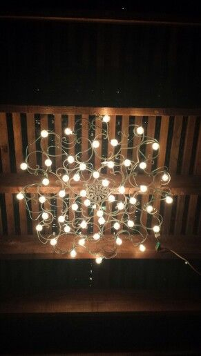 Patio Lighting Metal Art From Hobby Lobby And Outdoor Lights From
