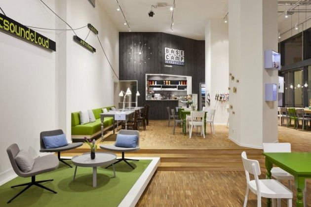 Living Room Area Rise Gives It A Feeling Like Separate Very Cool Shop Cafe Co Working Space Workshop In Berlin
