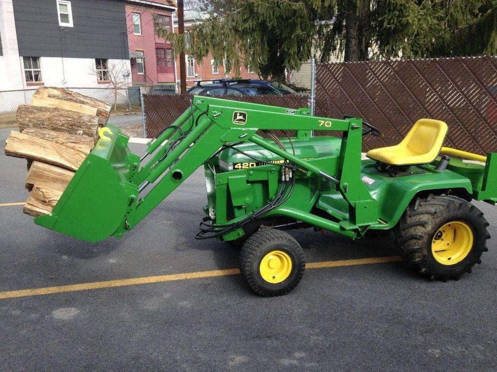 John Deere 420 Garden Tractor Front End Loader Fasci Garden