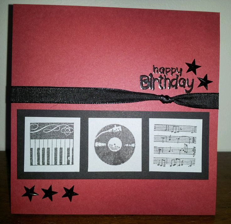 Pinterest Birthday Cards Song Birthday Card For The Music Lover